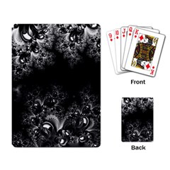 Midnight Frost Fractal Playing Cards Single Design