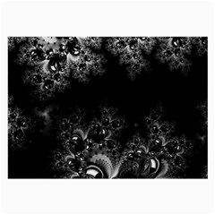 Midnight Frost Fractal Glasses Cloth (Large, Two Sided)