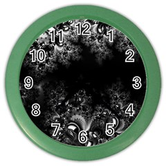 Midnight Frost Fractal Wall Clock (color)