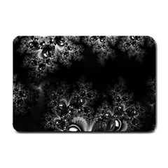 Midnight Frost Fractal Small Door Mat