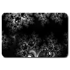 Midnight Frost Fractal Large Door Mat