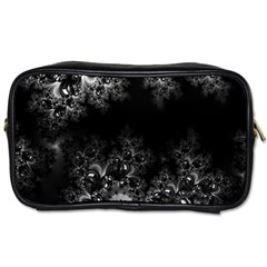 Midnight Frost Fractal Travel Toiletry Bag (one Side)