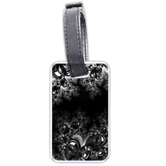 Midnight Frost Fractal Luggage Tag (two Sides)