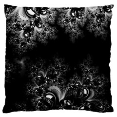 Midnight Frost Fractal Large Cushion Case (two Sided)