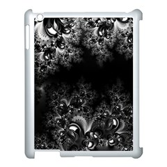 Midnight Frost Fractal Apple Ipad 3/4 Case (white)