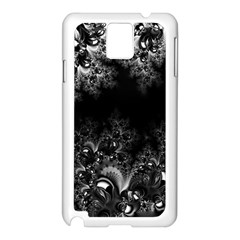 Midnight Frost Fractal Samsung Galaxy Note 3 N9005 Case (White)