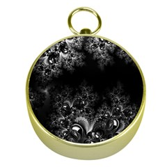Midnight Frost Fractal Gold Compass