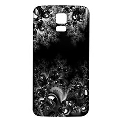 Midnight Frost Fractal Samsung Galaxy S5 Back Case (White)