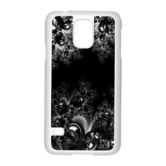Midnight Frost Fractal Samsung Galaxy S5 Case (white)