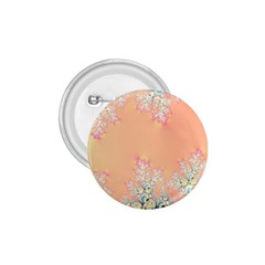 Peach Spring Frost On Flowers Fractal 1 75  Button