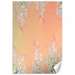 Peach Spring Frost On Flowers Fractal Canvas 12  x 18  (Unframed)