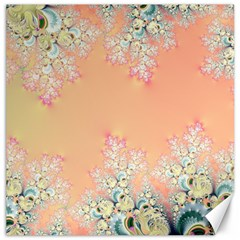 Peach Spring Frost On Flowers Fractal Canvas 16  x 16  (Unframed)