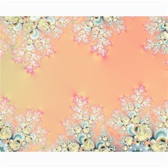 Peach Spring Frost On Flowers Fractal Canvas 16  x 20  (Unframed)