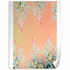 Peach Spring Frost On Flowers Fractal Canvas 18  x 24  (Unframed)