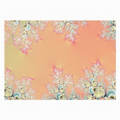 Peach Spring Frost On Flowers Fractal Glasses Cloth (Large, Two Sided)