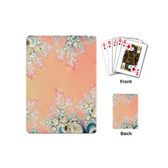 Peach Spring Frost On Flowers Fractal Playing Cards (mini)