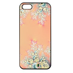 Peach Spring Frost On Flowers Fractal Apple Iphone 5 Seamless Case (black)