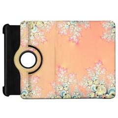 Peach Spring Frost On Flowers Fractal Kindle Fire HD 7  (1st Gen) Flip 360 Case