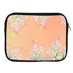 Peach Spring Frost On Flowers Fractal Apple Ipad Zippered Sleeve