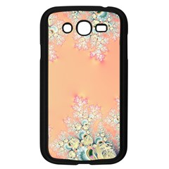 Peach Spring Frost On Flowers Fractal Samsung Galaxy Grand DUOS I9082 Case (Black)