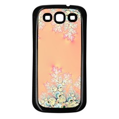 Peach Spring Frost On Flowers Fractal Samsung Galaxy S3 Back Case (black)