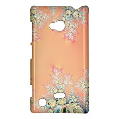 Peach Spring Frost On Flowers Fractal Nokia Lumia 720 Hardshell Case