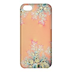 Peach Spring Frost On Flowers Fractal Apple iPhone 5C Hardshell Case