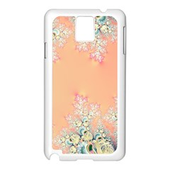 Peach Spring Frost On Flowers Fractal Samsung Galaxy Note 3 N9005 Case (White)