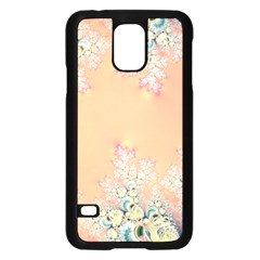 Peach Spring Frost On Flowers Fractal Samsung Galaxy S5 Case (black)