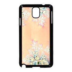 Peach Spring Frost On Flowers Fractal Samsung Galaxy Note 3 Neo Hardshell Case (Black)