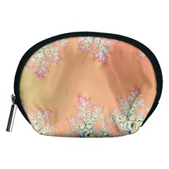 Peach Spring Frost On Flowers Fractal Accessory Pouch (Medium)