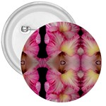 Pink Gladiolus Flowers 3  Button Front