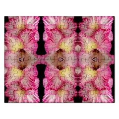 Pink Gladiolus Flowers Jigsaw Puzzle (Rectangle)