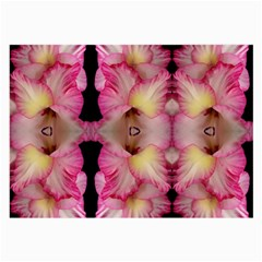 Pink Gladiolus Flowers Glasses Cloth (Large, Two Sided)