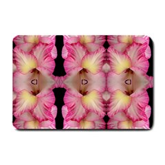 Pink Gladiolus Flowers Small Door Mat