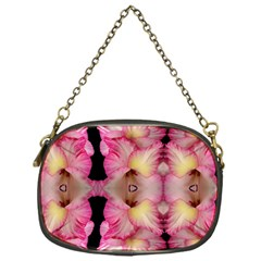 Pink Gladiolus Flowers Chain Purse (one Side)