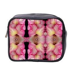 Pink Gladiolus Flowers Mini Travel Toiletry Bag (two Sides)