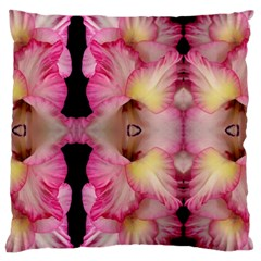 Pink Gladiolus Flowers Large Cushion Case (Two Sided)