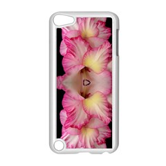 Pink Gladiolus Flowers Apple iPod Touch 5 Case (White)