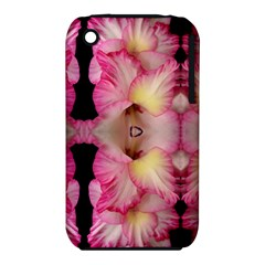 Pink Gladiolus Flowers Apple iPhone 3G/3GS Hardshell Case (PC+Silicone)