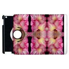 Pink Gladiolus Flowers Apple iPad 2 Flip 360 Case