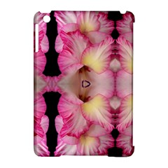Pink Gladiolus Flowers Apple iPad Mini Hardshell Case (Compatible with Smart Cover)