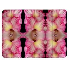 Pink Gladiolus Flowers Samsung Galaxy Tab 7  P1000 Flip Case