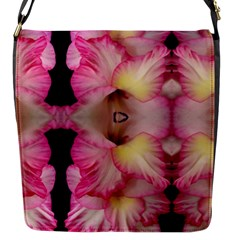 Pink Gladiolus Flowers Flap Closure Messenger Bag (Small)