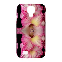 Pink Gladiolus Flowers Samsung Galaxy S4 Classic Hardshell Case (PC+Silicone)