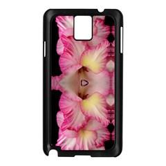 Pink Gladiolus Flowers Samsung Galaxy Note 3 N9005 Case (black)