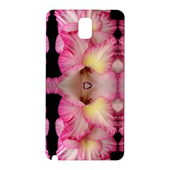 Pink Gladiolus Flowers Samsung Galaxy Note 3 N9005 Hardshell Back Case
