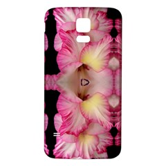Pink Gladiolus Flowers Samsung Galaxy S5 Back Case (white)