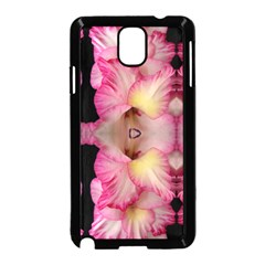 Pink Gladiolus Flowers Samsung Galaxy Note 3 Neo Hardshell Case (Black)