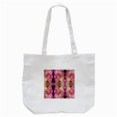 Pink Gladiolus Flowers Tote Bag (White)